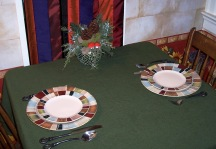 cristmas restaurant table setting