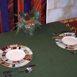cristmas restaurant table setting