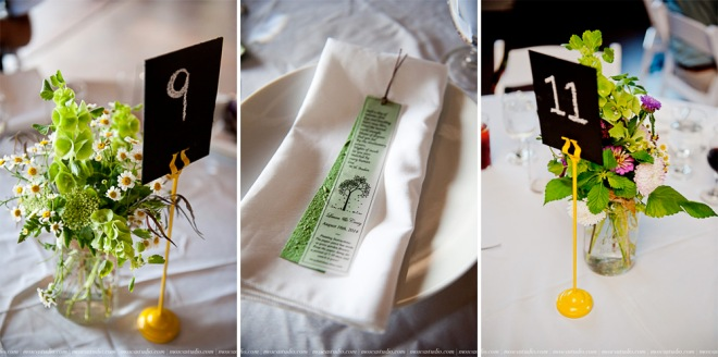 picture of table arrangements for wedding