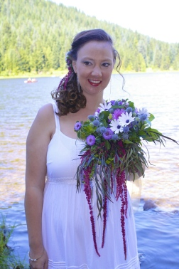 picture of sustainably grown brides bouquet