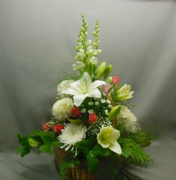 picture of a funeral basket