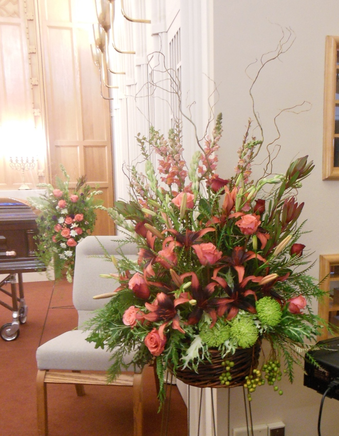picture of salmon funeral arrangment