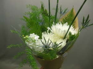 picture of bouquet of white Chrysanthemums